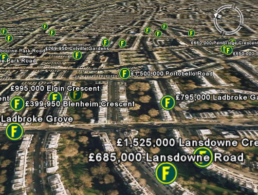 View Foxtons properties with Google Earth - Foxtons Blog & News